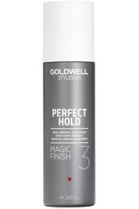 GOLDWELL Styling Brilliance Perfect Hold Magic Finish Spray nadający blask i chroniący kolor włosów 200ml