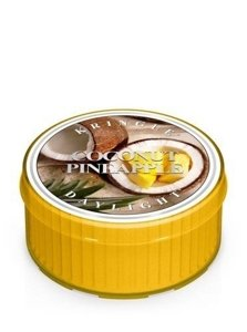 Kringle Candle Coloured Daylight Świeczka zapachowa Coconut Pineapple