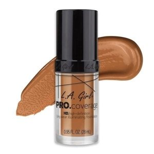 L.A. Girl PRO.Coverage HD Long Wear Illuminating Liquid Foundation Podkład do twarzy 652 Warm Caramel