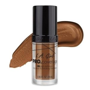 L.A. Girl PRO.Coverage HD Long Wear Illuminating Liquid Foundation Podkład do twarzy 654 Coffee