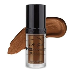 L.A. Girl PRO.Coverage HD Long Wear Illuminating Liquid Foundation Podkład do twarzy 655 Rich Cocoa