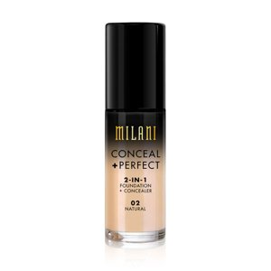 Milani CONCEAL + PERFECT 2-IN-1 FOUNDATION + CONCEALER Podkład kryjący 02 Natural