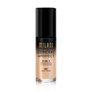 Milani CONCEAL + PERFECT 2-IN-1 FOUNDATION + CONCEALER Podkład kryjący 03 Light Beige