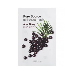 Missha Pure Source Cell Sheet Mask Acai Maseczka w płacie Jagoda Acai