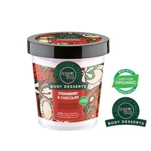 Organic Shop Body Desserts Nawilżający mus do ciała Strawberry&Chocolate BD17