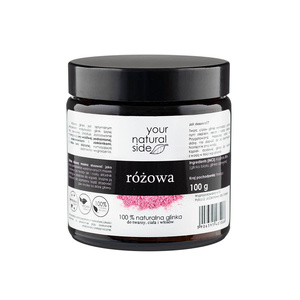 Your Natural Side 100% Naturalna GLINKA RÓŻOWA kaolinite&illite 100g
