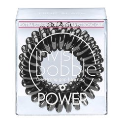 Invisibobble Gumki do włosów POWER - TRUE BLACK 3 sztuki