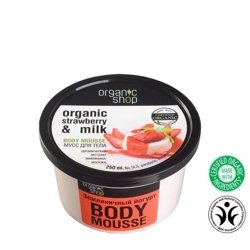 Organic Shop Mus do ciała Strawberry&Milk OS25