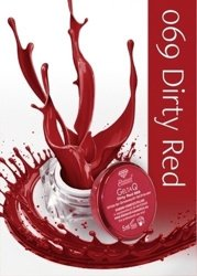 Semilac Żel UV kolor GeltaQ 069 Dirty Red