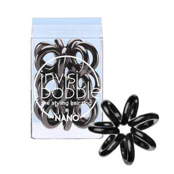 Invisibobble Gumki do włosów NANO - TRUE BLACK 1 SZT
