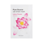 Missha Pure Source Cell Sheet Mask Lotus Flower Maseczka w płacie Kwiat Lotosu